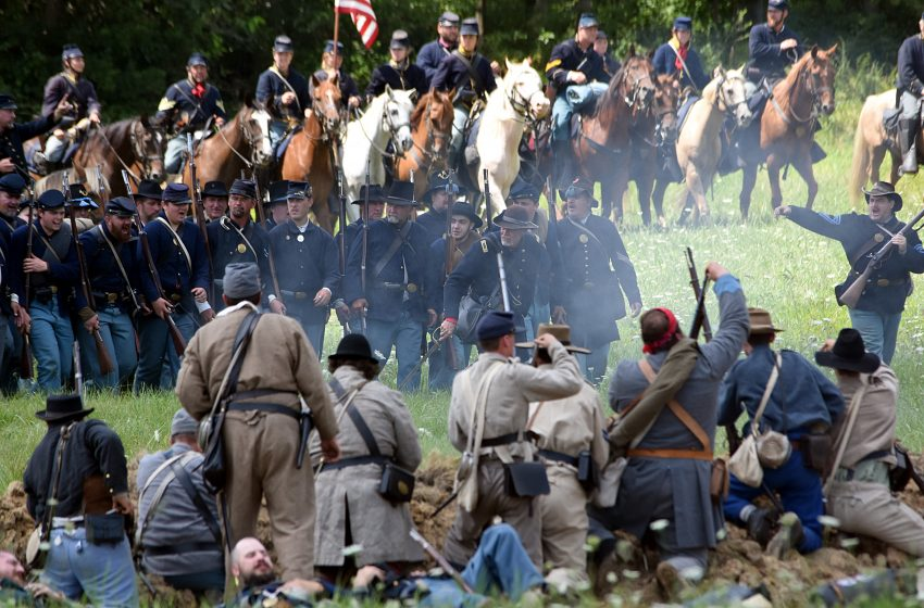 Civil War Battle Reenactment Turns Deadly as Confederate Army Reenactors Slaughter Union Army Reenactors with Assault Rifles