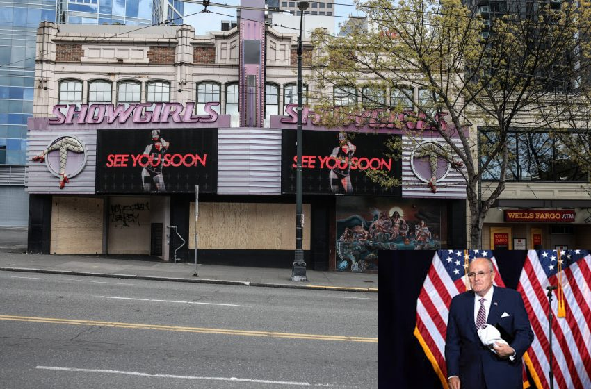 A Disheveled Rudy Giuliani Holds Press Conference Outside of Philadelphia Strip Club Claiming There Was Over a Million Illegal Votes Casted for Biden in Philadelphia