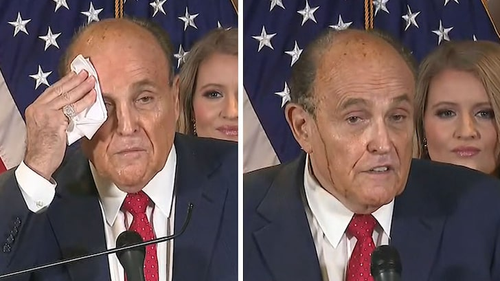 Trump Supporter Starts Believing Election Results After Rudy Giuliani's Hair Dye Drips Everywhere and Sounds Like a Lunatic