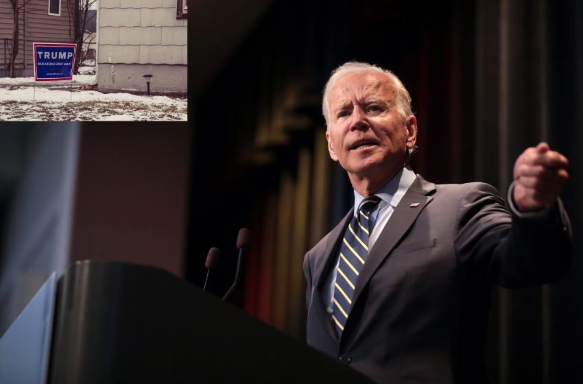 President Elect Biden Announces Any House That Still Has a Trump 2020 Sign or Flag On It After Inauguration Day Will Be Burned to the Ground