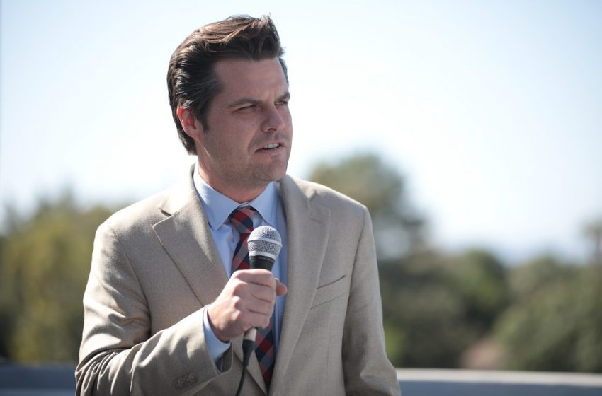 'So What If I Slept With an Underage Girl, Hunter Biden Did Like Drugs and Stuff' Says Republican Matt Gaetz While Sniffling Uncontrollably