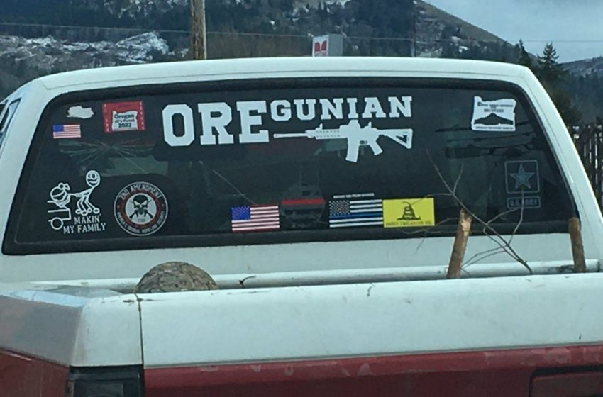 Man With Blue Lives Matter and Don't Tread On Me Flags Very Confused About His Hypocrisy
